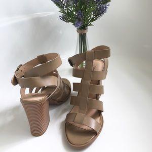 Taupe strap heels!! Light brown/grayish heels!!